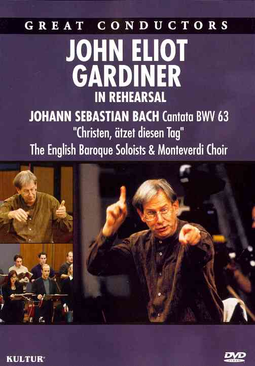JOHN ELIOT GARDINER IN REHEARSAL BY GARDINER,JOHN ELIOT (DVD)